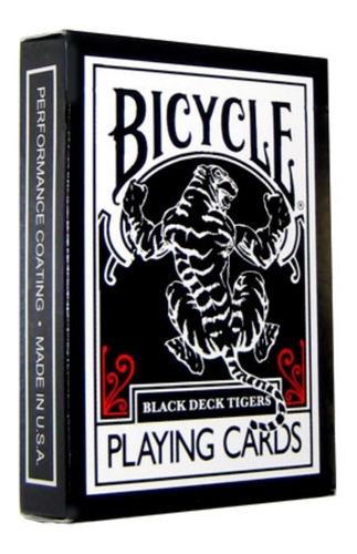 ¡ Cartas Bicycle Black Tigger Baraja Poker Magia Original !!