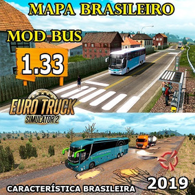 Euro Truck Simulator 2 Bus Brasil 2019 + Mapa Brasil Ets2