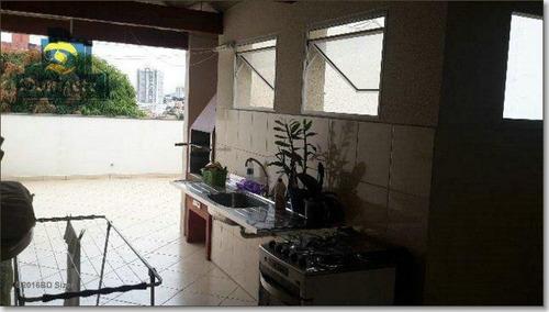 Cobertura Com 2 Dormitórios À Venda, 106 M² Por R$ 450.000,00 - Vila Valparaíso - Santo André/sp - Co0515