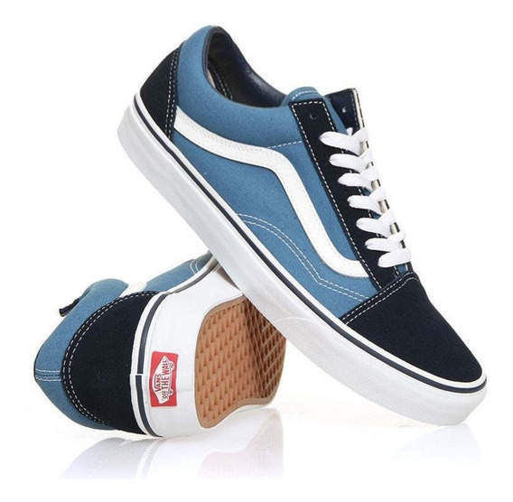 Zapatillas Vans Old Skool Originales Navy White