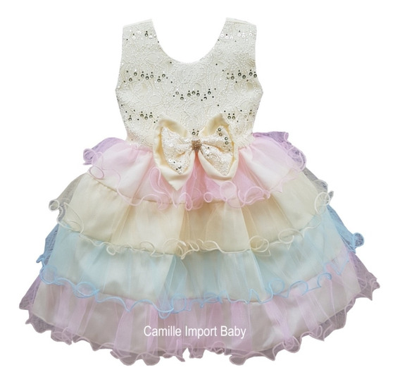 Vestido Unicórnio Rosa Baby Festa Infantil Promoção