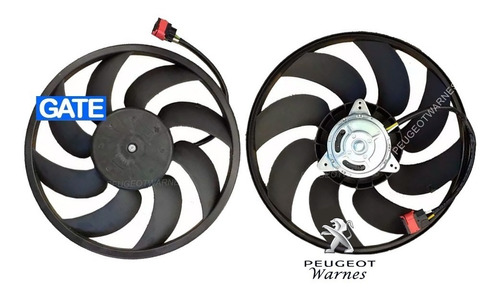 Electroventilador Gate Motor Paleta Peugeot 207 Comp 1.4 Hdi