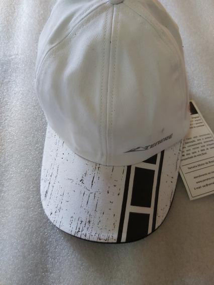 Boné Yamaha Branco Com Detalhes Em Preto Tenere