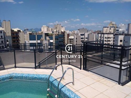 Cobertura Com 3 Dormitórios À Venda, 293 M² Por R$ 1.499.000,00 - Centro - Florianópolis/sc - Co0032