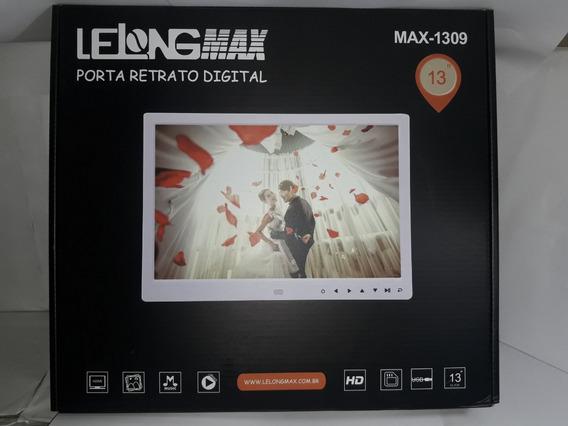 Porta Retrato 13 Polegadas Foto Música Vídeo Usb Sd Max-1309