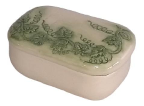 Antiga Caixa Decorativa Porta Joias Porcelana 17 Cm X 10 Cm