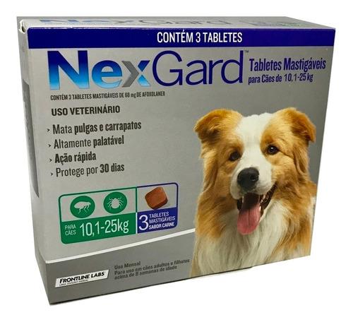 Nexgard Antipulgas Merial 68 Mg Cães De 10,1 A 25 Kg Cx Com