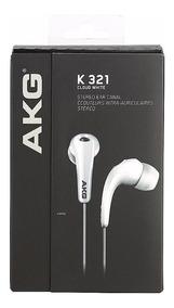 Fone De Ouvido Akg K321 Branco In Ear K-321 Original C/ Nfe