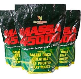 Kit Combo 3 Hipercalórico Massa 45000 C/ Batata Doce 3kg