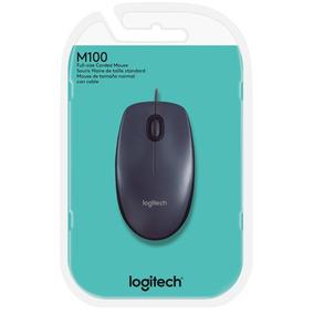 Mouse Óptico Logitech M100 Usb - Preto, Com Fio