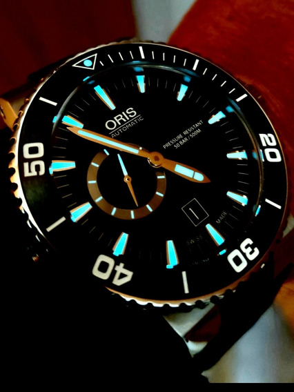 Relógio Oris Aquis Titan Small Second Date 500m ( Impecável)