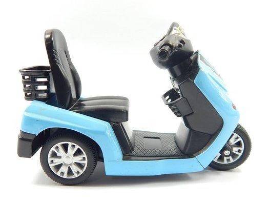 Miniatura Moto #01 Turbo Scooter Azul 1:16