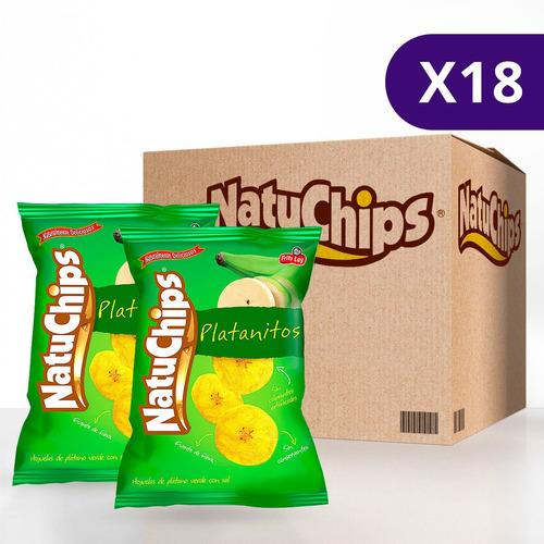 Natuchips® Platanitos Natural - Caja De 18 Unidades De 150g