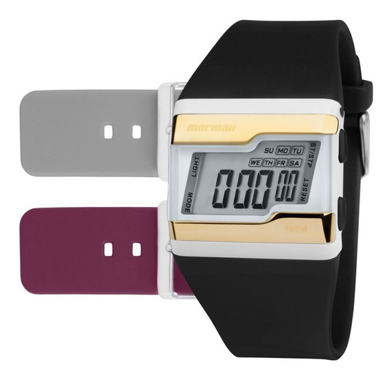 Relógio Mormaii Digital Esportivo Troca Pulseiras Fzw/t8d