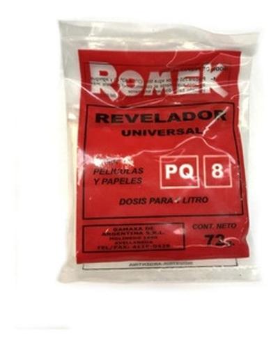 Imagen 1 de 2 de Revelador Romek  Universal Byn Pq8 X 1 Litro  (9466)