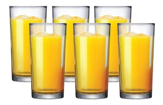 Jogo Copos Long Drink Água Suco Multiuso 255ml Kit 6 Peças
