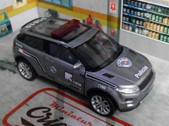 Miniatura Range Rover Evoque Polícia Militar Pm Sp - Rota