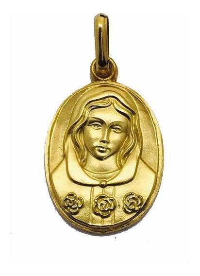 Medalla Oro 14k Rosa Mística #224 Bautizó Comunión