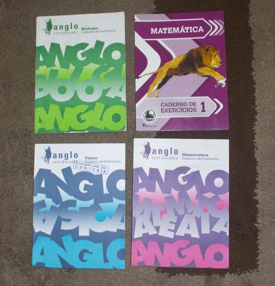 4 Livros Anglo Vestibulares Matemática Física Biologia