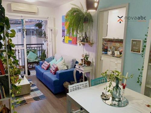 Imagem 1 de 26 de Apartamento Com 2 Dormitórios À Venda, 52 M² Por R$ 345.000 - Jardim Jamaica - Santo André/sp - Ap3762