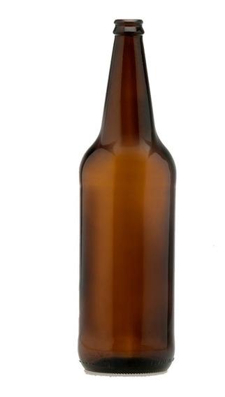12 Envases Botellas Cerveza Ambar Vidrio 1 Litro Paquete