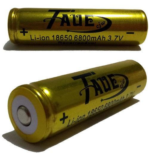 Bateria 18650 8200mah 3.7v Li-ion - Recarregável Taue