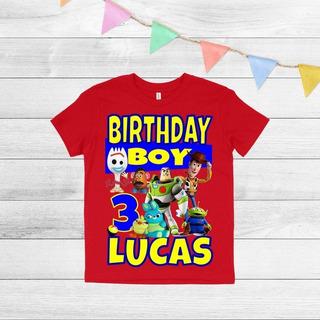 6 Playera Personalizada Cumpleaños Toy Story Niño/niña