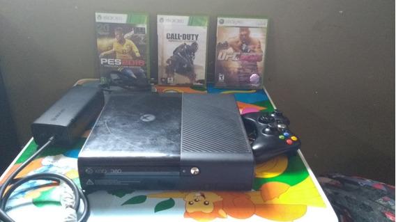 Video Game Xbox 360 Bloqueado +controle +3 Jogos Originais..