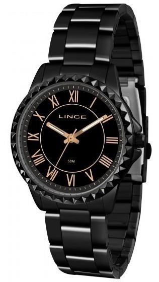 Relógio Preto Feminino Lince Lrn4561l P3px Preto - Refinado