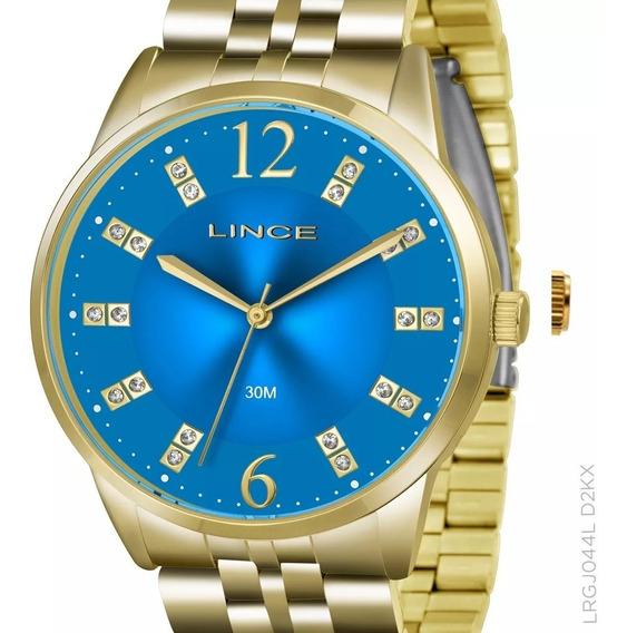 Relógio Lince Feminino Dourado Lrgj044l D2kx Original + Nota