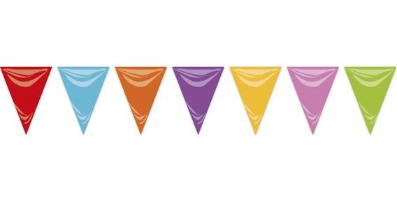 Banderin Plástico Multicolor Cotillon Patrio Comunión Fiesta