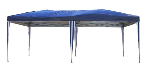 Tenda Gazebo 3x6 Articulado Em Aço Com Tecido Aluminizado