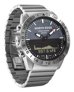 Reloj Buceo North Edge Gavia Tiempo Profundimetro Termometro