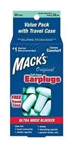 Protetor Auricular Macks Soft Foam 30 Pares Original Lacrado