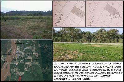Terrenos Tachina De Venta Lote 20 Y Lote 21en Tabule