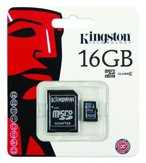 Cartao De Memoria 16gb Sd Micro C / Adaptador Kingston