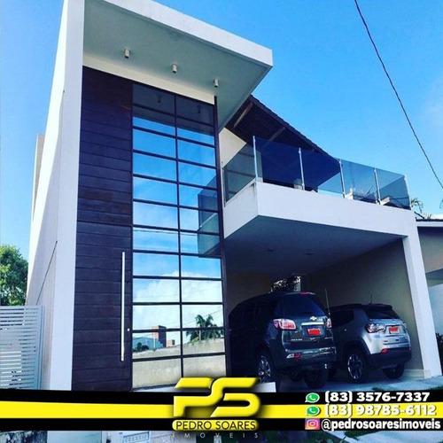 Casa Com 4 Dormitórios À Venda, 385 M² Por R$ 1.800.000,00 - Portal Do Sol - João Pessoa/pb - Ca0549