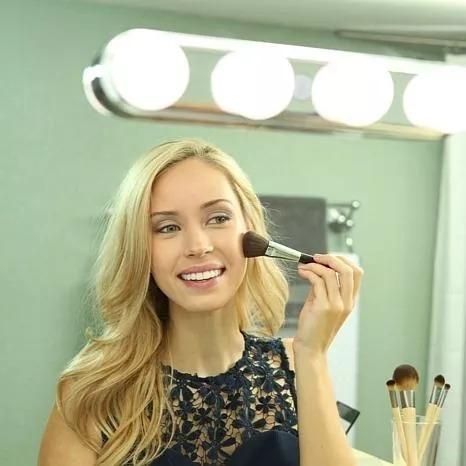 Iluminação Para Maquiagem Led Espelhos Ventosa Pilha Promoção Luminária Luz Branca Fria