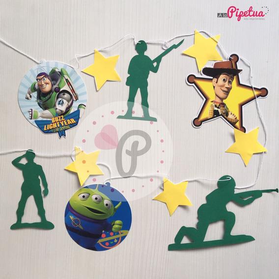 Guirnalda Toy Story Woody Buzz Soldaditos Banderin Colgante