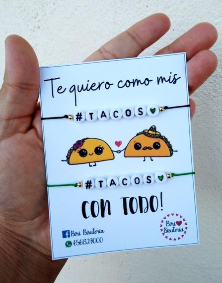 Dúo Pulseras De Tacos