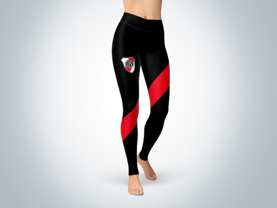 Pantalon Calza Dama Ztc-0329 - River Plate 1 (negra O Blanca