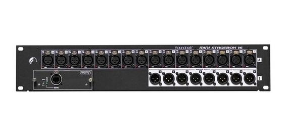 Mini Stage Box Soundcraft Msb 16 Eu Mini 16 Cat 5 (bivolt)