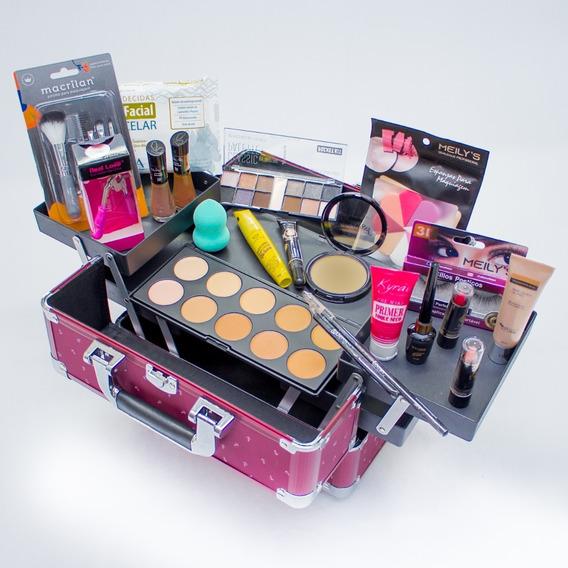 Maleta Maquiagem Completa Ruby Rose + Colossal 12x Sem Juros