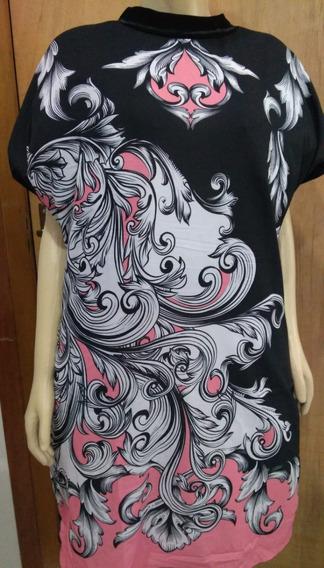 Vestido Plus Size De Veludo Com Crepe Tam: G1 (48) E G2 (50)