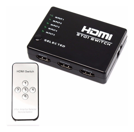 Switch Selector 1 Hdmi A 5 Hdmi Control Remoto - No Incluye