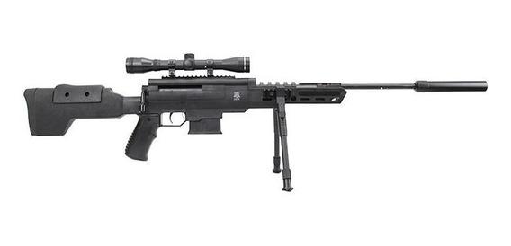 Carabina De Pressão Black Ops Sniper 5.5 Gás Ram + Luneta