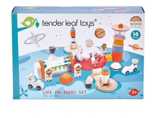 Imagen 1 de 4 de Juguete Estacion Espacial Tender Leaf Toys De Madera Febo