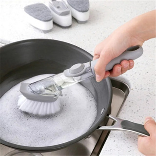 Cepillo Dispensador Jabon Lava Trastes Esponja Cocina Fibra