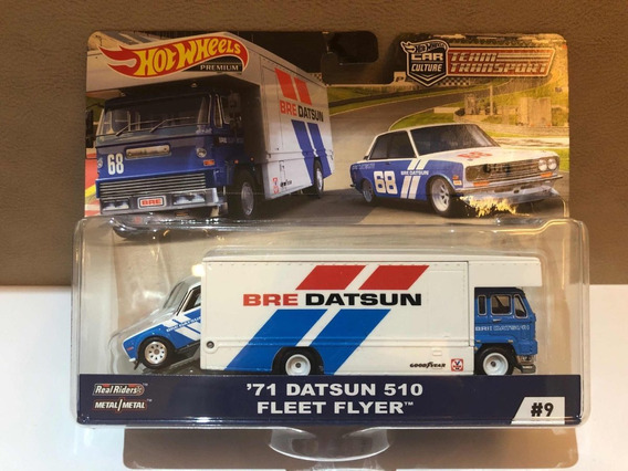 Hot Wheels Team Transporte Datsun 510 Bre Fleet Flyer