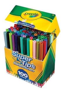 Plumones Marca Crayola Lavables, 100 Colores, 100 Piezas